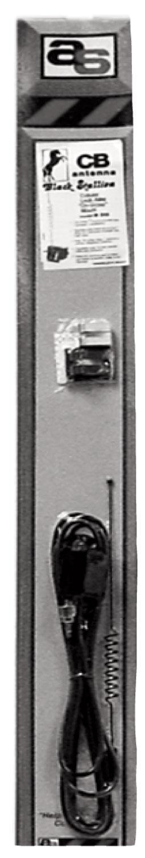 "M906 - Antenna Specialists 12"" Glass Mount Cellular CB Antenna"