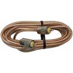 PP8X12-CLR - ProComm 12' RG8X Coax Cable W/ Pl259s Clear Jacket
