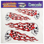 04516401 - 4 Piece Racing Skulls Vinyl Decals