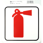 """0454203 - Duro 6"""" X 6"""" Stick-On Fire Extinguisher Decal - 12 Per Pack"""