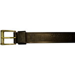 "10610300144 - 44"" Black Leather Belt With Logo"