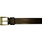 "10610300134 - 34"" Black Leather Belt With Logo"