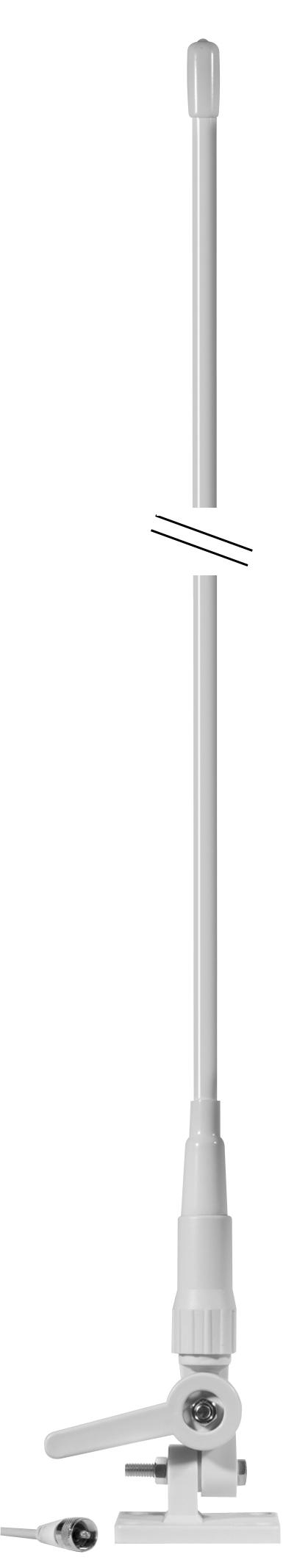 CM300004 - Cobra® 5' 3Db Gain Fiberglass VHF Antenna