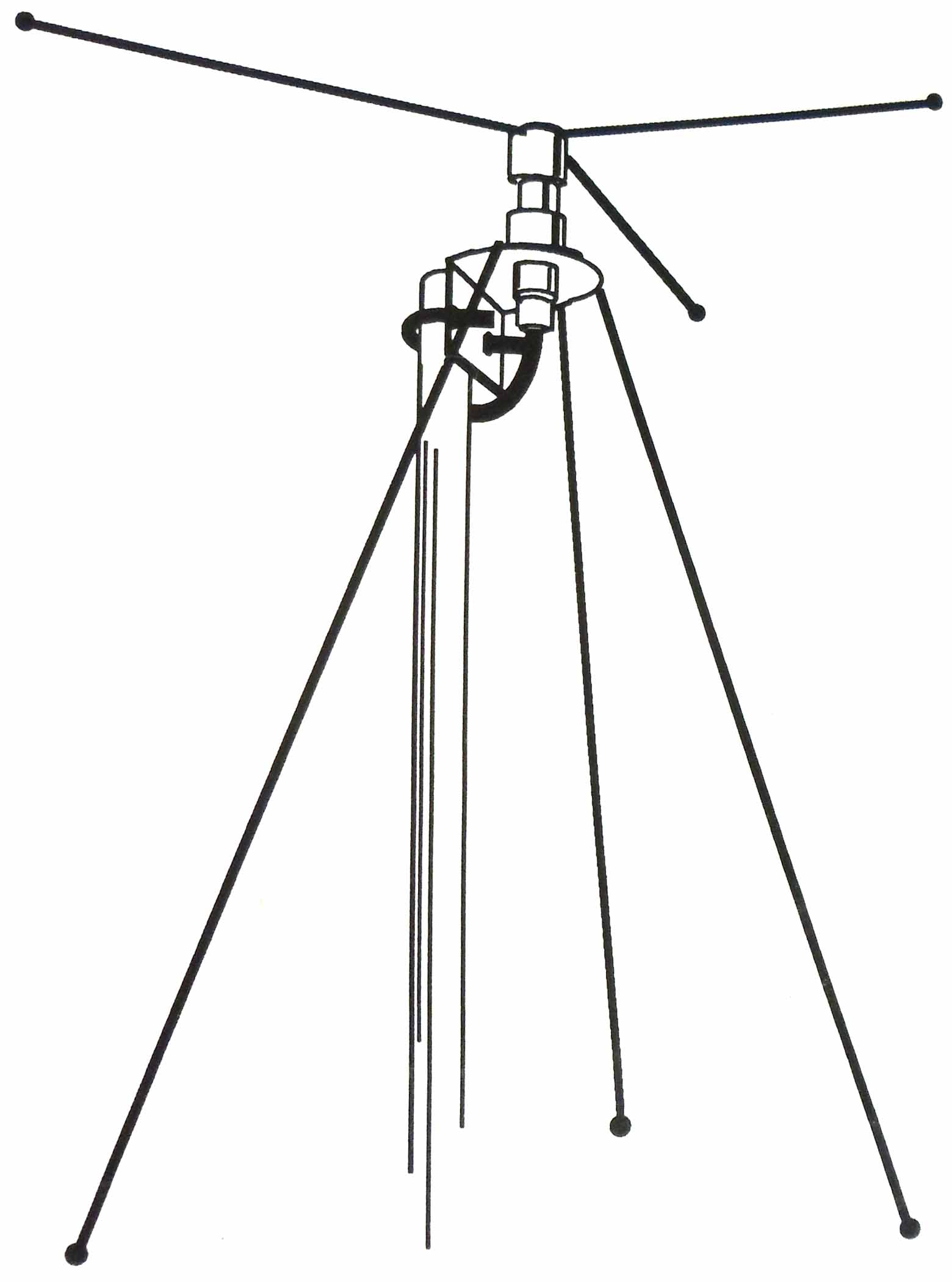 DCL-BN - Hustler Discone Base Scanner Antenna With 50' Coax & Bnc