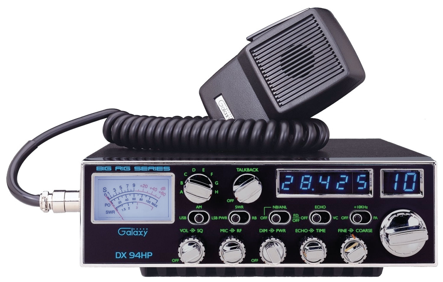 DX94HP - Galaxy High Powered 10 Meter Mobile Radio