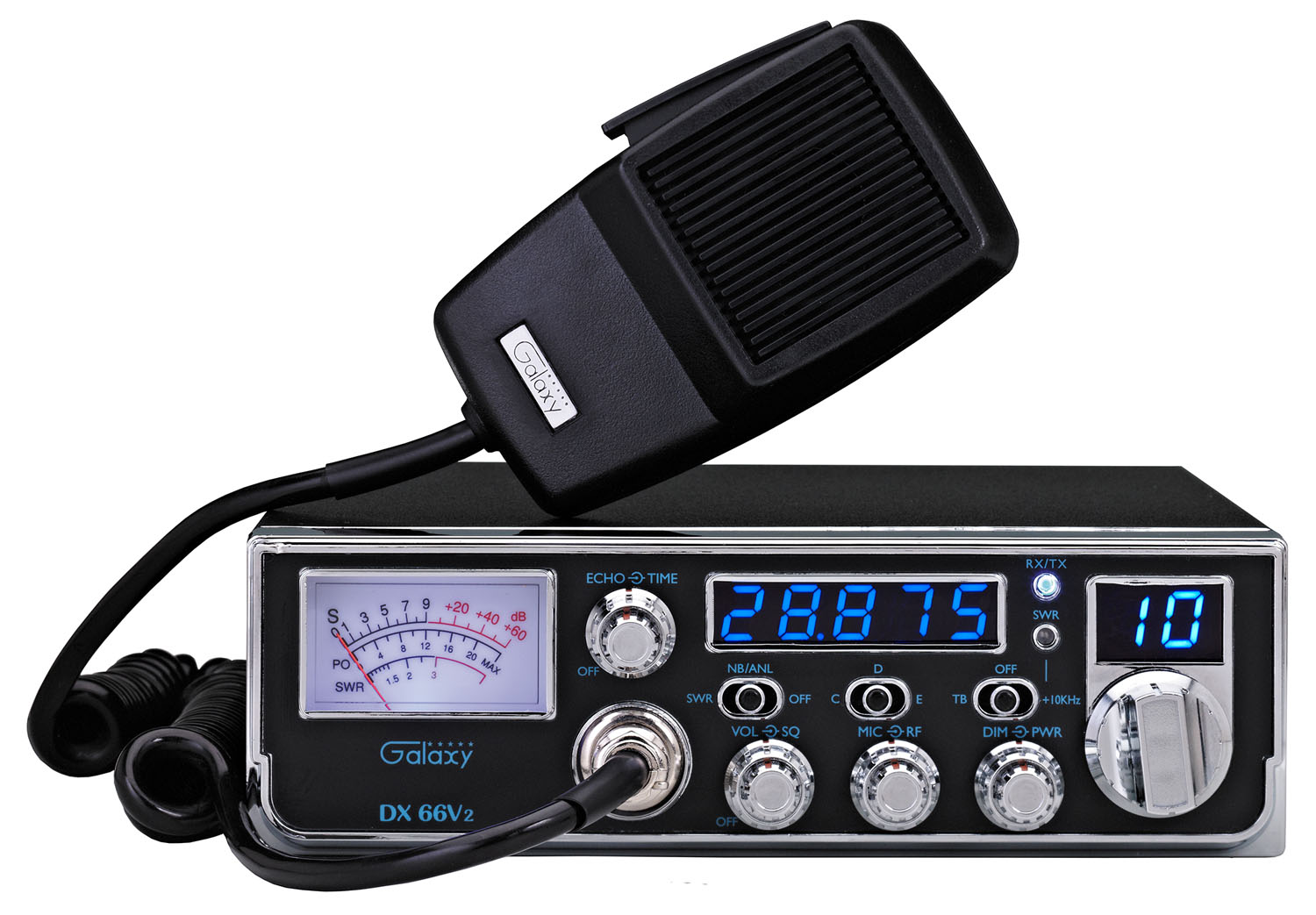 DX66V2 - Galaxy 45 Watt Mid-Size AM 10 Meter Amateur Ham Radio