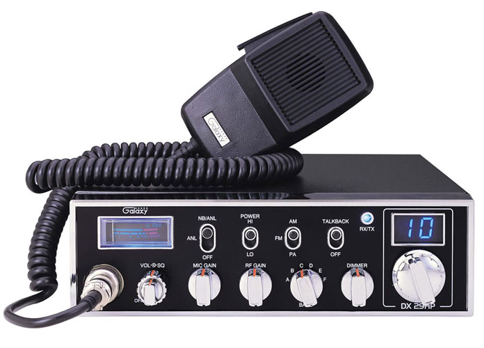 DX29HP - Galaxy 6 Band 10 Meter 45 Watt Mobile Radio