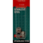 07401365 - Stainless Steel Lock Nuts 1/4 X 20""
