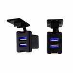 IBR66 - Toyota Style Knockout USB Car Charger With Dust Cover 3.1 Amp Total Output