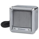 "305600-CX - Wilson 5"" Chrome Heavy Duty Metal External Speaker with 22 Gauge Black Wire"