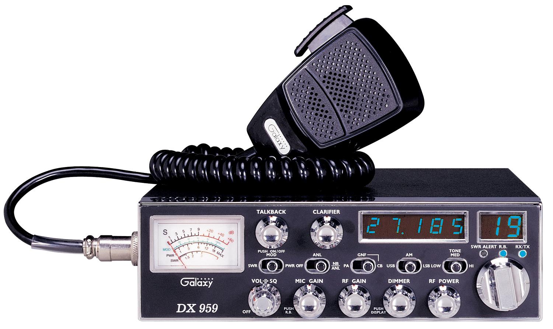 DX959B - Galaxy AM/SSB 40 Channel Deluxe CB Radio Blue LED