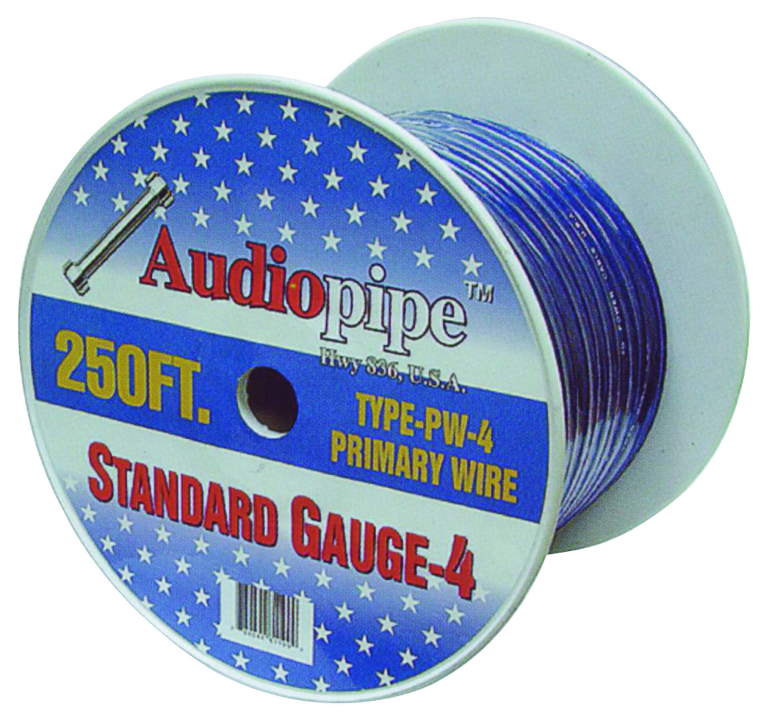 PW4250-R - Audiopipe 250' 4 Gauge Oxygen Free Power Cable (Red)