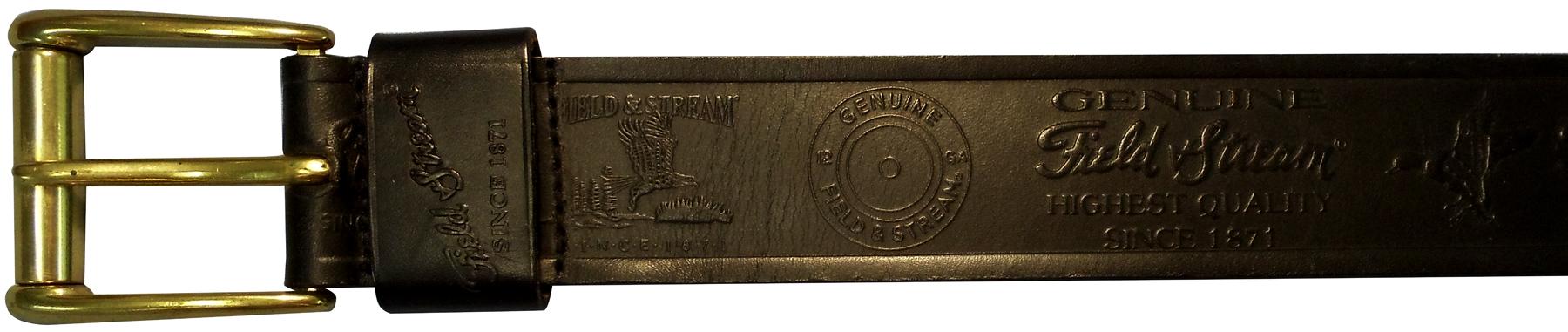 "10610300132 - 32"" Black Leather Belt With Logo"