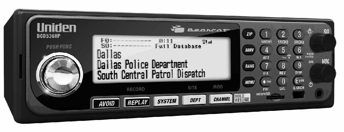 BCD536HP - Uniden Base/Mobile Digital Scanner