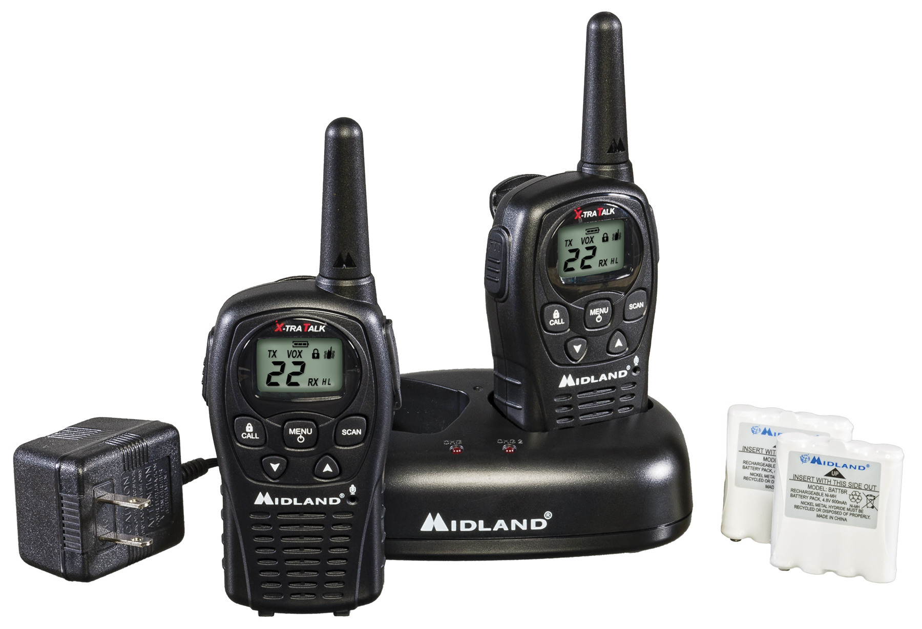 LXT500VP3 - Midland 22 Channel Extended Range FRS/GMRS Hand Held Radio
