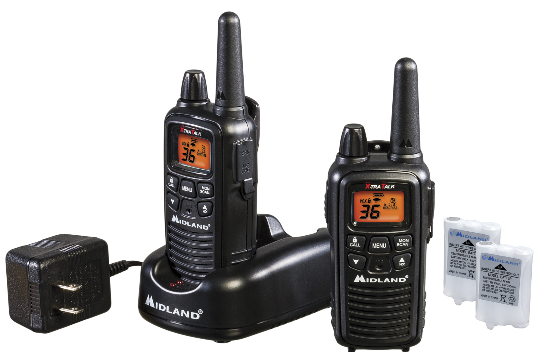 LXT600VP3 - Midland 36 Channel FRS/GMRS Handheld Radio Pair