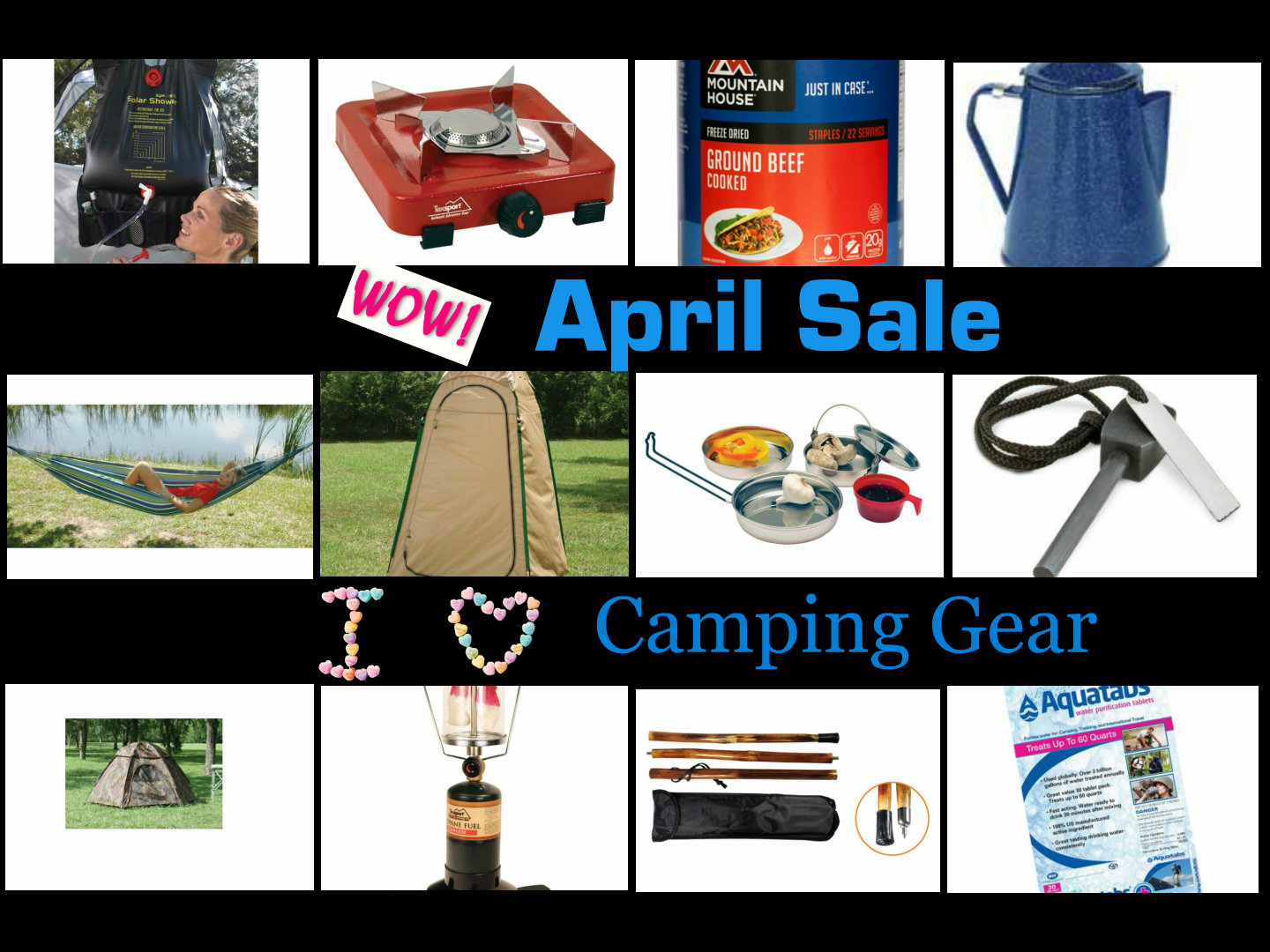 April Sales - Camping Equipment