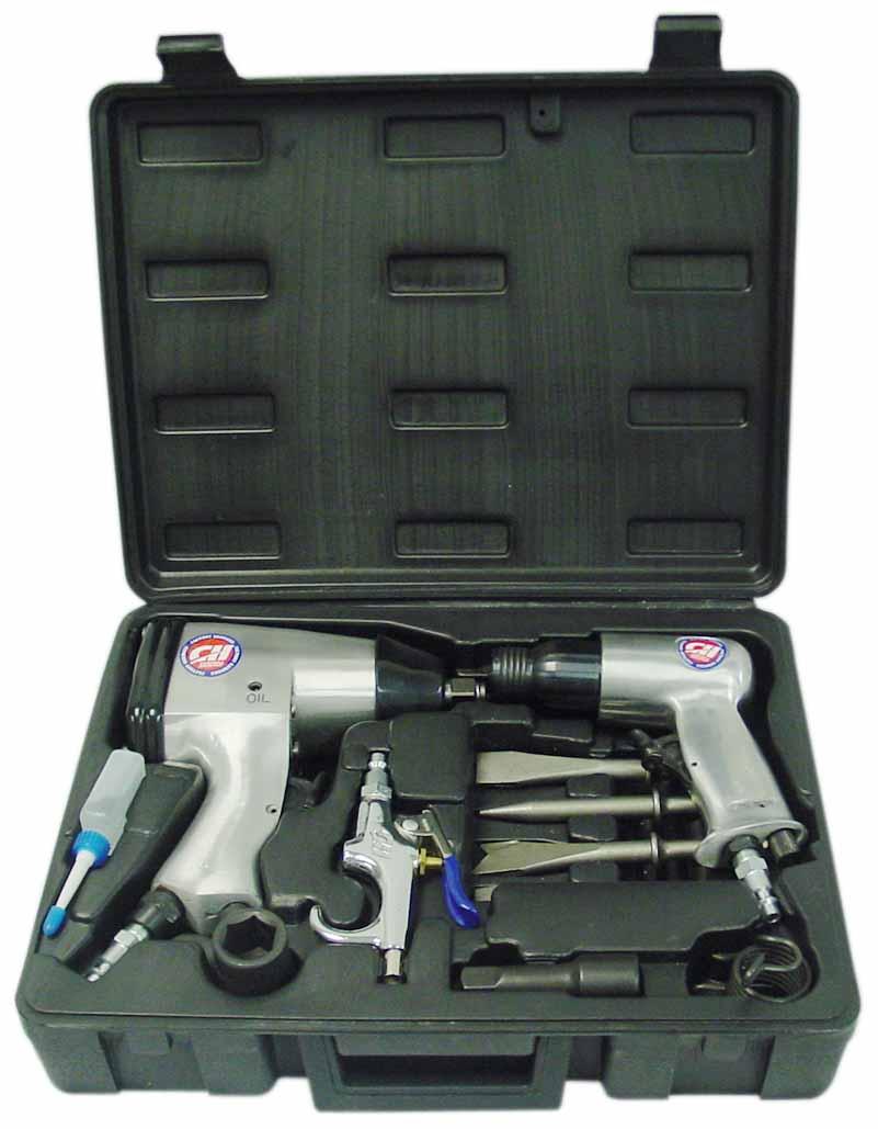 TL106100RB - Campbell Air Impact Gun & Air Impact Chisel Set