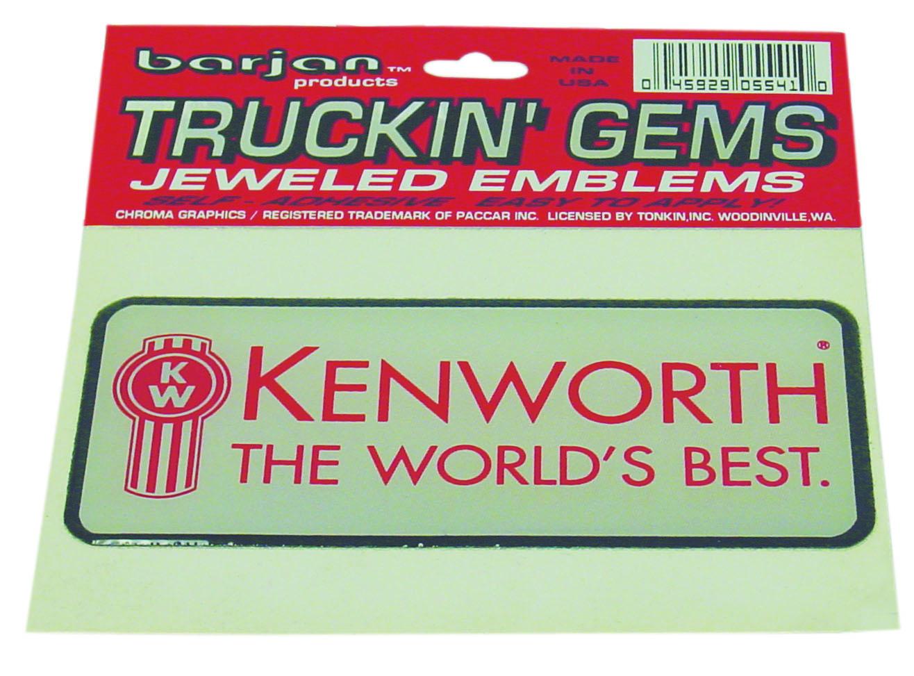 0455541 - Kenworth Truckin Gems Jeweled Reflective Decal