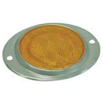 "049472A - 3"" Amber Aluminum Oval Reflector"