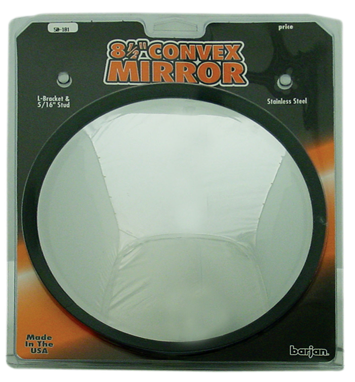 "050181 - 8-1/2"" Stainless Steel Offset Convex Mirror"