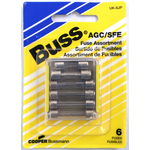 058BPUK6JP - Buss 6 Piece Assorted Fuses