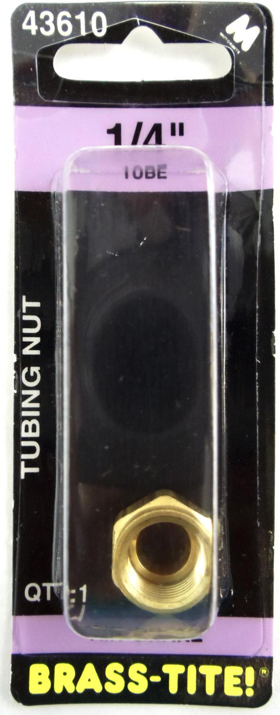 "07443610 - Brass-Tite Air Brake Brass 1/4"" Tubing Nut"