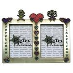 12560138 - Heart Embellished Dual Window Boyfriend - Girlfriend Photo Frame