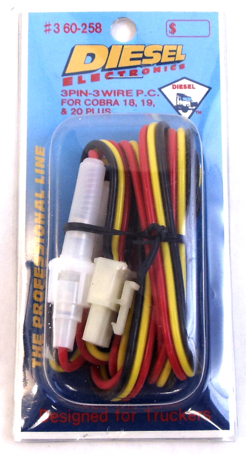 360258 - Power Cord for Cobra 18 19 and 20 Plus Radios