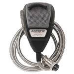 636LSE - Astatic 4 Pin Silver Edition Microphone With Silver Wire Cord