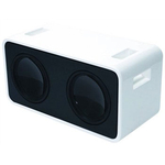 "APIP100-W - Audiopipe Dual 10"" Speaker Box w/ Piano White Finish"
