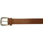 "10625410232 - 32"" Plain Brown Leather Field & Stream Belt"