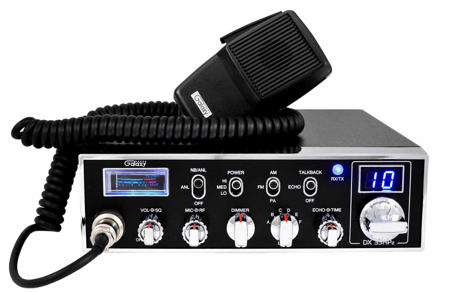 DX33HP2 - Galaxy 6 Band 10 Meter 45 Watt Mobile Radio