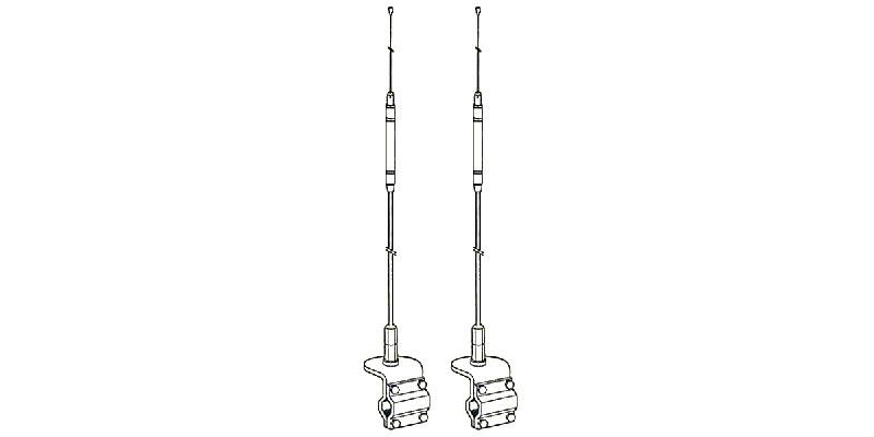 HQD - Hustler Dual Mirror Mount CB Antenna Kit