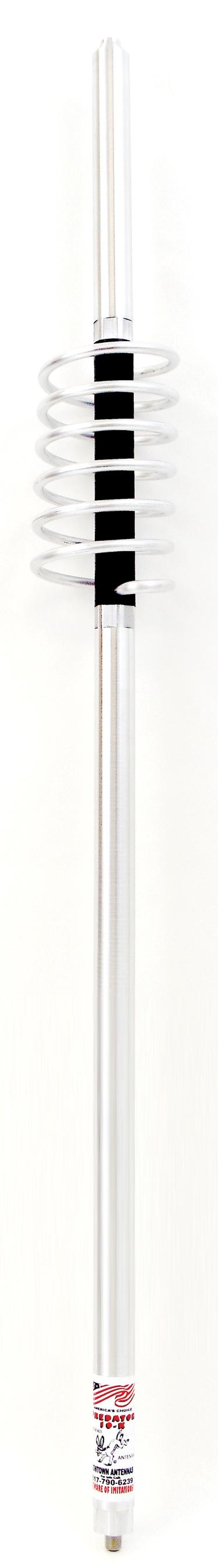 "K127 - 10,000 Watt Predator Antenna 3/8"" x 24"" Thread, 27"" Shaft, 58"" Whip"