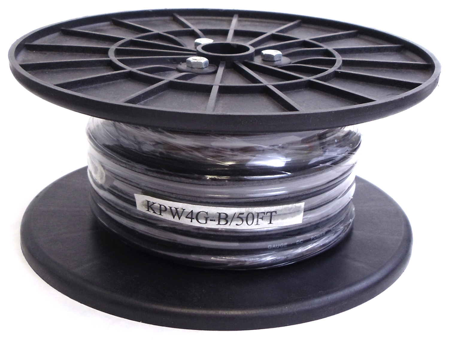 KPW4G-B - Kalibur 50 Foot Spool Of 4 Gauge Black Power Wire