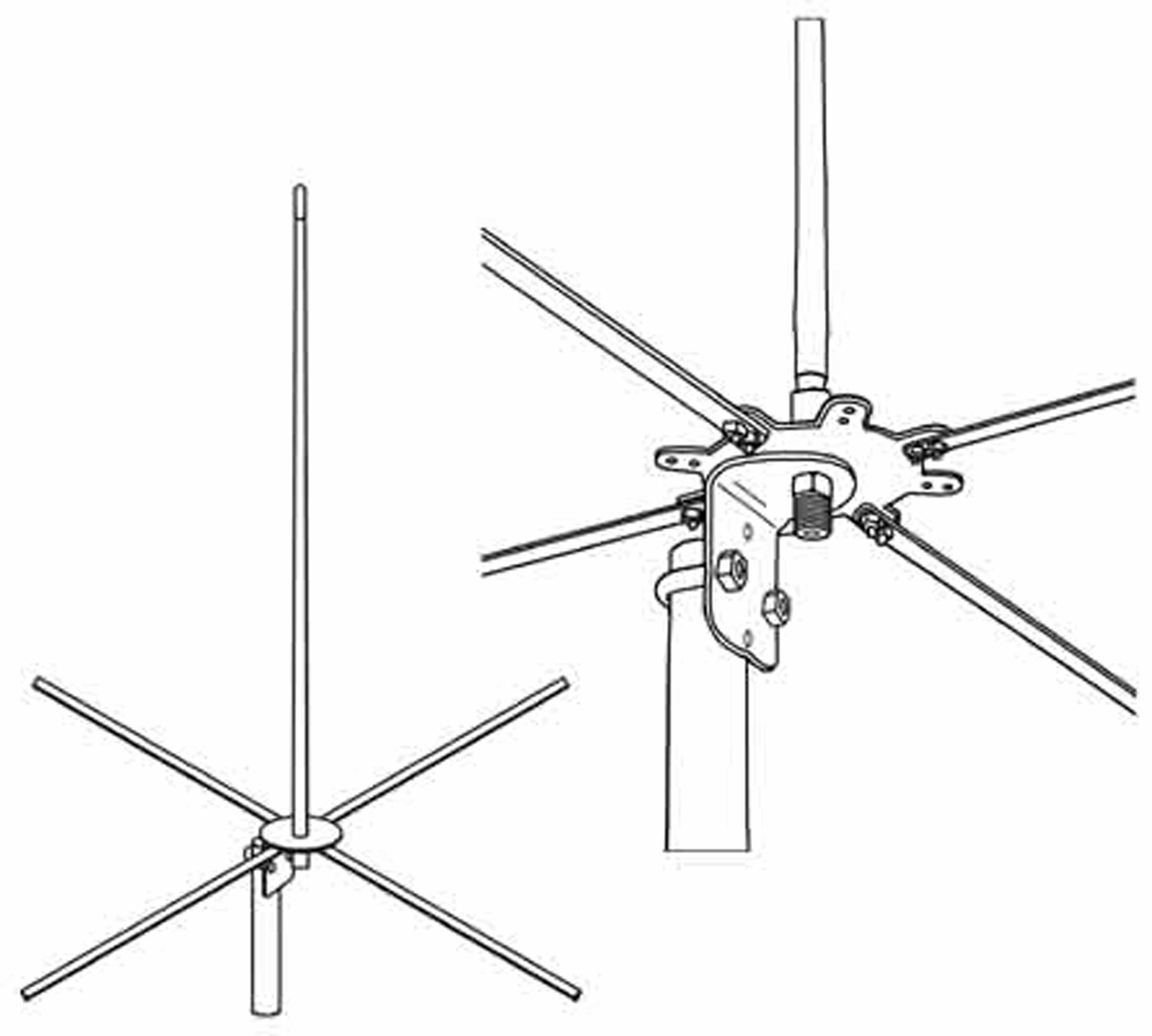 RRBASE - Firestik RailRoad Base Station Antenna Kit