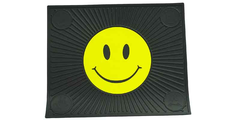 0241053 - Happy Face Rubber Utility & Vehicle Mat