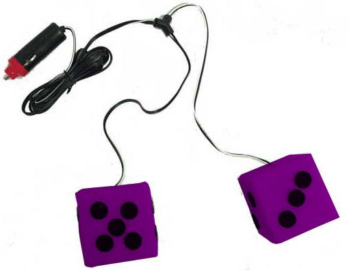 024740 - Liteglow Purple 12V Lighted Dice