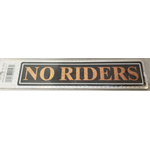 04577 - No Rider Gold Truck Sign 12/Pk