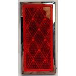 """049BP484RX - Reflector Red Rectangular 3-7/16"""" x 1-11/16"""""""