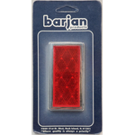 049BP484R - Reflector Red Rectangular 2/Card