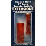 056BP401 - Toggle Switch Extension Amber Large Square Hole 2/Card
