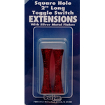 056BP404 - Toggle Switch Extension Red Long Square Hole 2/Card