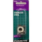 "07401376 - Stainless Steel 1/4"" Flat Washer"