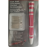 17201 - 9 Piece SAE Precision Pen Style Pocket Screwdriver