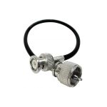 P3BNC - Procomm 3' RG58 Coax - PL259 to BNC Male Connector.