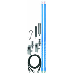 KW364A9A-BB - Firestik 3' Dual Mirror Mount CB Antenna Kit (Blue)