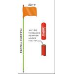 SR4-G - Firestik - 4ft Green, Strobe ready Stick w/ Flag