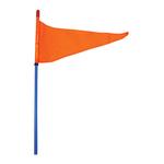 "SR6-BL - Firestik 6' Blue Strobe Ready Stick (3/8""X24 Base ) With Flag"